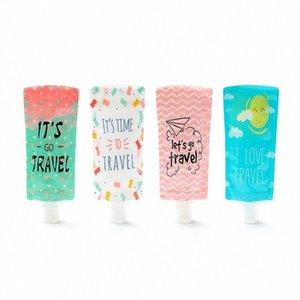 Bottiglia da 100 ml di viaggio Hand Sanitizer Cosmetic Bag di riempimento Sacchetto PVC Imballaggio portatile Borse Shampoo Packaging Bottiglie CCA12061 500pcs IJBe #