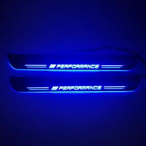تتحرك الاكريليك LED مرحبا بكم دواسة السيارة جرجر لوحة عتبة الباب المسار الضوء على BMW F20 F21 F22 F23 F30 F31 F32 E82 E83 E87 E88 E90 E91 E92 E93