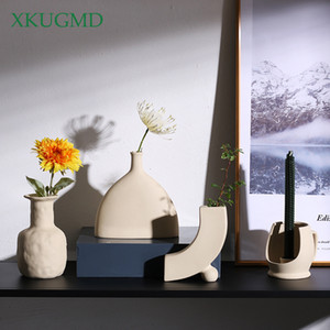Горячий продавая новый Nordic Ceramic Креативный ваза Crafts Балкон Цветочный горшок Сушеные Цветочная композиция Домашнее украшение украшения