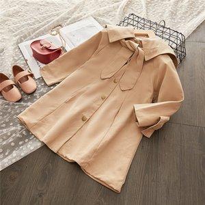Melario Mädchen Trench Herbst Freizeitjacken Oberbekleidung Mode Fest Farbe Windjacke Kinder Kleidung Bogen nette Mädchen Mantel