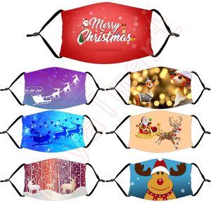 2020 Volto di Natale Maschera Buon regalo di Natale Natale decorazioni per la casa natale decorazione Babbo Natale Cervo Orso Felice Anno Nuovo