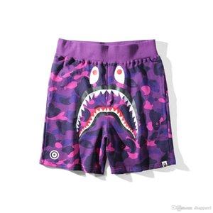 Adolescente Hip Hop Praia Calças Shorts Pants Cabeça do tubarão azul roxo Red camuflagem Amante Casual Shorts Calcinhas calças dos homens Tamanhos M-2XL