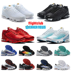 2020 Plus III Tn 3 Men Women Tuned Tennis Running Shoes Hot Black Red Hyper Blue Sunset Trainers Best Cushion Sport Sneakers 36-45