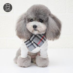 Зима Осень сгущает Pet шарф Классический плед Дизайн Домашние животные банданы фестиваль подарок для Бишон Прекрасные шарфы
