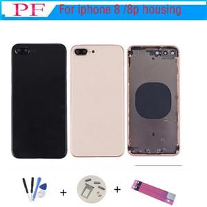 Iphone 8 için 8g 8 Plus Yeni Arka Orta Çerçeve Şasi Tam Konut Montaj Pil Kapağı için Iphone 8 Geri Konut