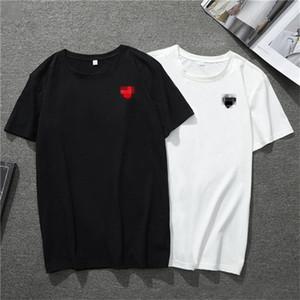 CDG JOUER Commes concepteur mens T-shirts OFF avec des tee-shirts de sport coeur des garcons bande blanche Pablo Chemises pour l'été vetements8