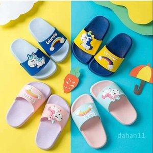 Hot Sale-Kids bébé licorne Designer Accueil Maison Diapo Sandales Chaussons pour Garçons Filles Femmes Casual flip Slipper chaud unisexe Flops Slipper