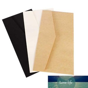 Office School 22X11cm kraft white black paper Envelope Message Card Letter Stationary Storage Paper Gift Envelope No. 5