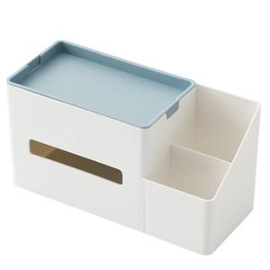 Tissue Box Remote Control Holder Makeup Cosmetic Storage Box Napkin Paper Container Desk Organizer Decoration Tools