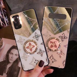 Luxury Алмазный с Золотым кольцом держателя для S20 10/9 / 8plus / Ультра Защитного чехол Cove чехол для Samsung Galaxy Note10-8 Pro A71