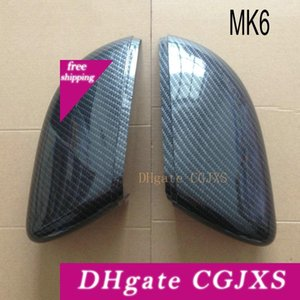 Pour Golf Mk6 Side Wing Mirror R20 Couvre Fit Volkswagen Mk7 7 Gti 6 Caps (Scirocco Pattern carbone) 2009 2010 2011 2012