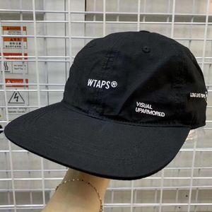 WTAPS Плоский Брим Бейсболка Мужчины Женщины Вышивание папа Hat Hip Hop Snapback Trucker Cap гольф Открытый регулируемый Повседневный Harajuku T200409