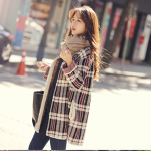 eSZdb 2020 معطف الخريف جديد سترة تشيان Songyi نفس النمط الكوري منتصف طول سترة سترة فضفاضة الملابس معطف المرأة