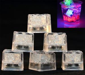 Partido Decoração de Natal Wedding Multi Color Mini Romântico Luminous Cubo Led Artificial Ice Block flash LED Luz Jxw087