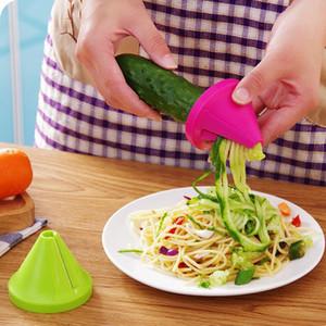 Кухня Воронка Модель Спираль Slicer Растительные Shred Морковь Редька Cutter
