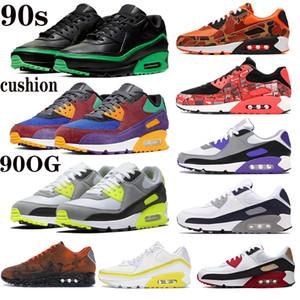 Nuovi anni '90 cuscino arrivo scarpe da corsa uomini donne invertono camo anatra Undefeated bianco ottico Giallo OG Infrarossi scarpa da tennis allenatori sportivi