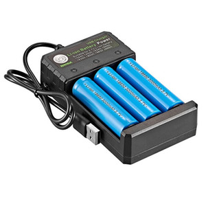 Çok fonksiyonlu USB Şarj 3 Yuva Li-ion Pil Gücü 3.7V 26650 10440 16340 16650 18350 18500 Şarj edilebilir Lityum batarya GWC2479 İçin