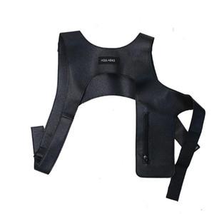 Cuoio Gilet maglia tattica Moda petto Borsa con Zipper all'aperto Street Wear Zaino Holster Bag