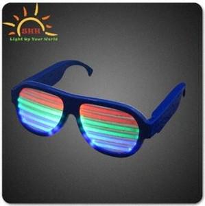 3 modos que destellan rápida Partido luminoso Vidrios EL LED de iluminación del partido de DJ que brilla intensamente colorido clásico de los juguetes para danza Orbit Máscara CCA7429 Juguetes 8tFV #