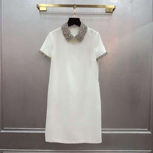 Sommer Neues Produkt Heavy Industry Handgemachte wulstige Puppe-Kragen-Reduced Alte Mode Temperament süßes Kleid