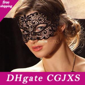Máscara negro Recorte del cordón velo atractiva Prom Máscara del partido de la mascarada de danza blindajes cosplay Atrezzo