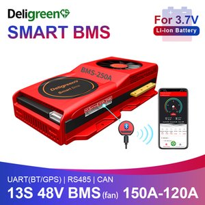 smart BMS 13S 48V 150A 200A 250A Bluetooth 485 to USB device CAN NTC UART software Li-on Battery protection Board BMS With Fan