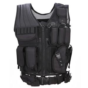 Herren Weste Tactical Chemise Militaire Uniforme Militar Armee-Kampf-Hemd Colete Tatico Jagd Multi Functional Vest