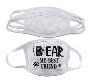 Camadas de máscara EM ESTOQUE Blanks sublimação cara Adultos Crianças duplas prevenção de poeira máscara para transferência DIY Calor Imprimir DHL frete grátis