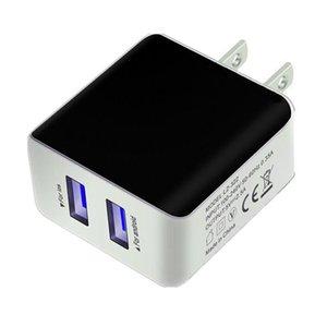Cgjxs Duvar Şarj Güç Adaptörü Çift USB bağlantı noktaları 5v 2 .5a Ac Ana Seyahat Eu Bize Tak İçin Samsung S6, S7 8 HTC Tablet Pc Mp3