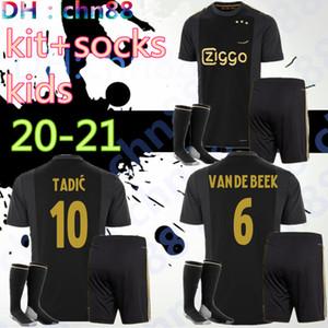 20 21 Ajax 50e maillot de football Ajax 2020 PROMES ALVAREZ 2021 chemisette de futbo VAN DE BEEK TADIC ZIYECH MAILLOT DE FOOT + kit enfants chaussettes ENSEMBLES