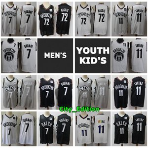 2020 New Mens Youth Kids BrooklynNetsJersey Authentic Stitched Kevin Durant Kyrie Irving Biggie Youth Swingman Basketball Jersey