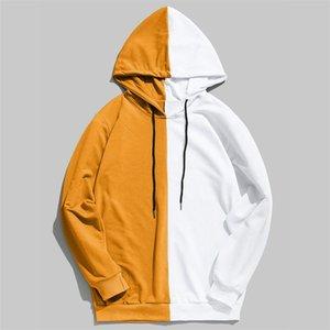 Mens Designer Hoodie Lot Contraste côté couleur Lian Cap Sweater Costume # 267