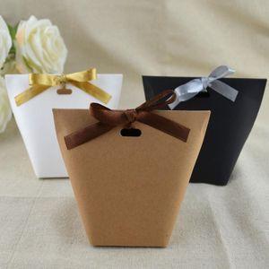Blank fai da te Kraft Paper Bag CBag Wedding Chocolate Box Cartone festa di compleanno Retro Kraft Paper Bag DHB1426
