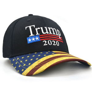 Sun Protection President Donald Trump Hat Trump Embroidery Adjustable Baseball Cap Men Women Cotton American Flag Snapback Hat AAB1240