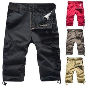 feitong Männer Casual Shorts Fest im Freien Tasche Strand Arbeit kurz Hommes Cargo-Shorts Männer Fracht plus Größe Shorts # g35