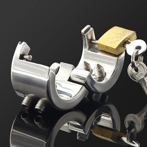 피어싱 수탉 BALL 링 장치 들것 음낭 펜던트 볼 들것 고환 무게 CHAMBER 금속 수탉과 볼 고문 잠금 Skdob