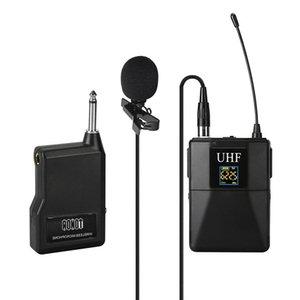 Kamera Kaydedici için UHF Mikrofon Profesyonel Telsiz Mikrofon Sistemi Alıcı + Verici