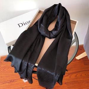 Дизайнер шелк Длинный шарф для женщин Горячие продажи бренда Письмо Печатные шали шарфов пашмины Лето Большой Хиджаб Платки для дам 180x70cm