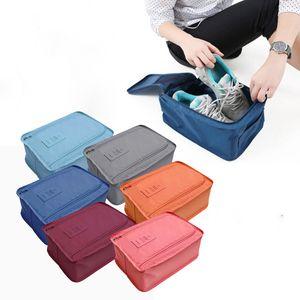 Multi-purpose Convenient Storage Bags Nylon 6 Colors Portable Organizer Bags Shoe Sorting Pouch Travel Storage x DF