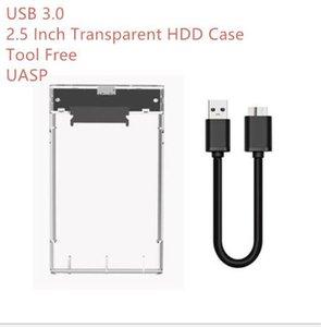 2 .5 İnç Yüksek Hızlı Usb 3 0,0 Şeffaf Hdd Kılıf Aracı Ücretsiz UASP Harddisk Kutu ile Kutu