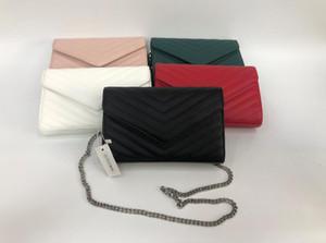 2020 Tasarımcı Çanta Metal Zincir Altın Gümüş Tasarımcı Çanta Hakiki Deri Çanta Kapak Kapak Çapraz Omuz Çantaları Toz