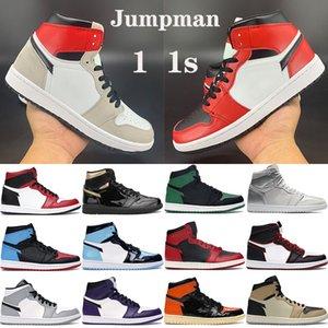 새로운 1 남성 농구 신발 Jumpman 1s 높은 새틴 뱀 OG TOKYO 라이트 스모크 그레이 블랙 메탈릭 골드 남성 여성 스니커즈