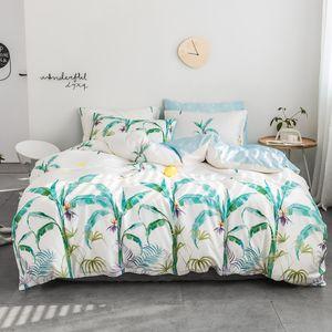 Rainforest Style100% Cotton Fabric Blanket Duvet Cover Set Flatsheet Sheet PillowCase 3 4Pcs Twin Queen King Size for Christmas