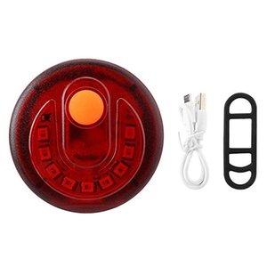 USB зарядка водонепроницаемый Tail Light велосипедов Taillight 9 LED предупреждение Горный велосипед лампы Ночь езда безопасности заднего света