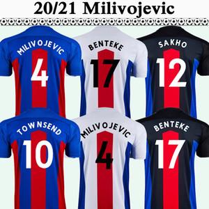 20 21 Zaha Sakho Mens Soccer Jerserys Kouyate Milivojevic Townsend Home Red Blue Football Camicie Nuovo Palazzo Benteke Batshuayi Manica corta