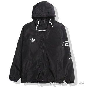 KANYE ceket erkek hip hop rüzgarlık ceket, erkek ve kadın streetwear moda ceket, siyah ve beyaz, Y-3 ceketi.