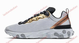 high quality React Element 87 55 Mens Trainer Running Shoes Triple Black Camo Red UNDERCOVER Women Sports Walking Shoes Fashion