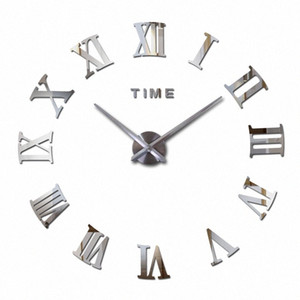 Vente en gros 2016 Hot Fashion Quartz Home Decor Ltd vente 3d Big Mirror Diy réel Horloge murale design moderne Chambre très grand cadeau W Amqa #