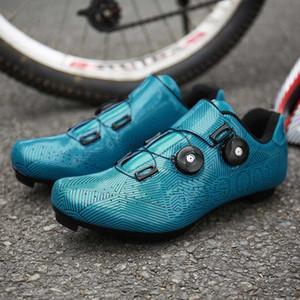 Nuovo stile Professional Cycling tacchetta Scarpe MTB Ultralight esterna della bicicletta della montagna Sneakers corsa della bici della strada di bloccaggio SPD Scarpe