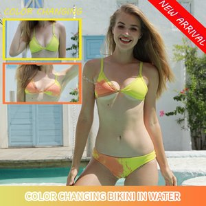 Changing Color Bikini Set Swimwear Women's 2020 New Items Swimsuit for Women Sexy Swimsuit Bathing Suit High Waist Dropshipping